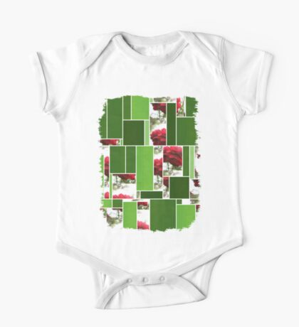 Red Rose with Light 1 Art Rectangles 12 One Piece - Short Sleeve