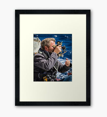 Sextant in colour Framed Print