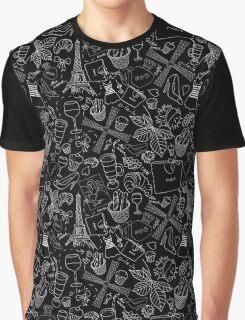 - Walking in Paris pattern 2 - Graphic T-Shirt