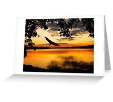 EAGLE AT SUNSET Greeting Card