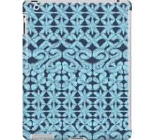 Ikat Lace in Pale Blue on Navy iPad Case/Skin