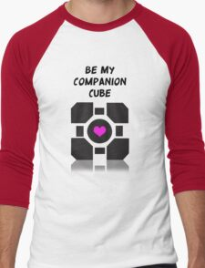 Companion Cube  Men's Baseball ¾ T-Shirt