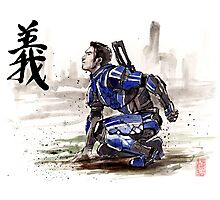 Kaidan from Mass Effect series Sumie style Righteousness Photographic Print
