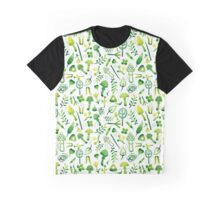 - Green watercolor mushrooms pattern - Graphic T-Shirt