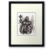 Commander Shepard from Mass Effect sumie style with HOPE Framed Print