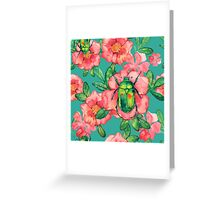 - Wild rose pattern - Greeting Card