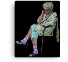 Old Lady in Chair, view 2 Canvas Print