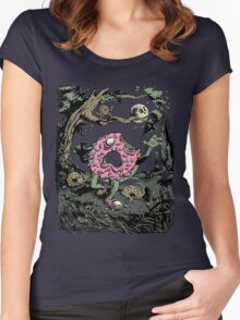 Night of the Undead Doughnuts Women's Fitted Scoop T-Shirt