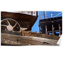 Mining Cart Trestle Poster