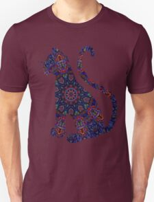 Blue abstract Tile 2 T-Shirt