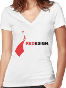 REDesign tee Women's Fitted V-Neck T-Shirt