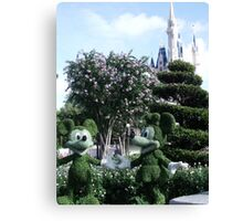 Mickey & Minnie Mouse in Disneyland Canvas Print