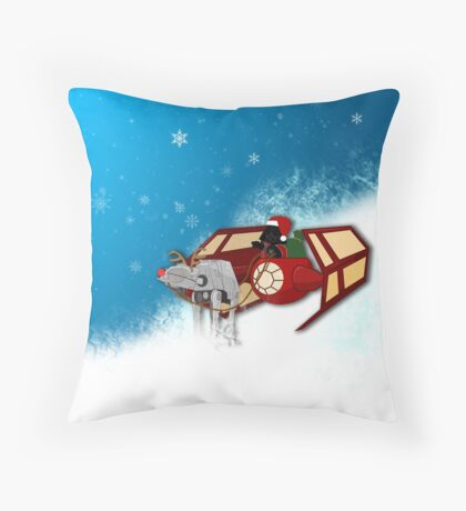Walking in a Winter Vaderland Throw Pillow