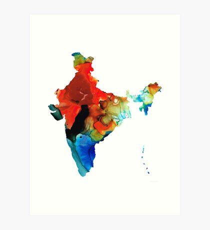 Map of India by Sharon Cummings Art Print