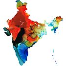 Map of India by Sharon Cummings by Sharon Cummings