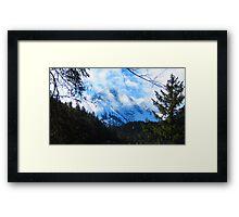 Austerities of Austrian Alps Framed Print
