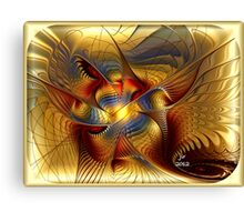 GOLDEN DANCING DRAGON Canvas Print
