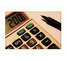 Photography - Calculator With Pen - Color Art Print