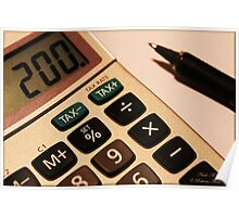 Photography - Calculator With Pen - Color Poster