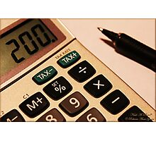 Photography - Calculator With Pen - Color Photographic Print