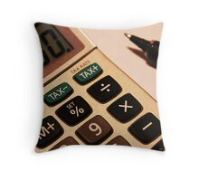 Photography - Calculator With Pen - Color Throw Pillow