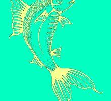 Turquoise Fish Illustration by WeAreGolden