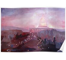 United States Capitol in Washington D.C. at Dusk Poster