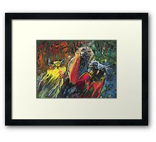 Owls in Cahoot Framed Print