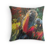 Owls in Cahoot Throw Pillow