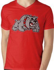English Bulldog Cartoon Mens V-Neck T-Shirt