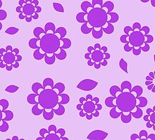 Elegant Spring Flowers Petals Purple by sitnica