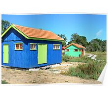 Site ostriecole,  Oyster farming harbour, Oleron,Charente Maritime, France Poster