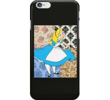 Alice in floral iPhone Case/Skin