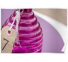 purple glass Poster