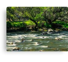Flowing Waters of Río Tomebamba Canvas Print