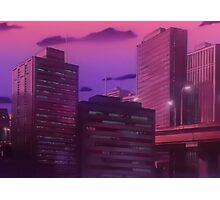 Anime Night City Photographic Print