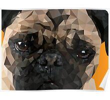 Puggy Pug Poster