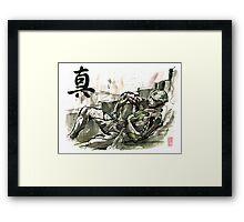 Thane from Mass Effect series Sumie Style with TRUTH Framed Print