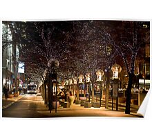 16th Street Mall in Denver, Colorado at Christmas time. Poster