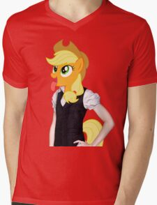 Applejack woman Mens V-Neck T-Shirt