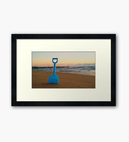 Spade at Sunset Framed Print