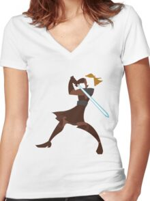 Anakin Women's Fitted V-Neck T-Shirt