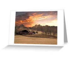 Horse Farm Down by the Point Greeting Card