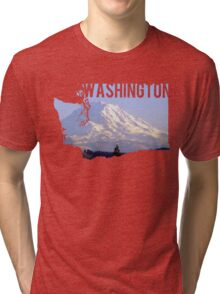 Washington - Rainier Tri-blend T-Shirt