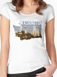 Washington - Seattle Women's Fitted Scoop T-Shirt