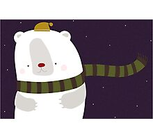 Christmas Polar Bear Photographic Print