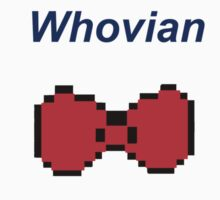 """Whovian"" Doctor Who Bow Tie Kids Tee"