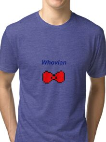 """Whovian"" Doctor Who Bow Tie Tri-blend T-Shirt"