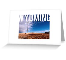 Wyoming - Windmill Greeting Card