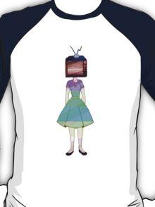 Glitch TV Head Girl T-Shirt